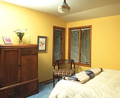 The upstairs bedroom at Creekside Terrace